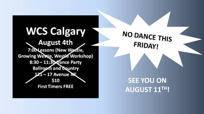 Aug 4 NO DANCE