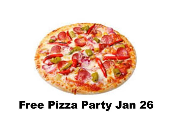 free pizza party