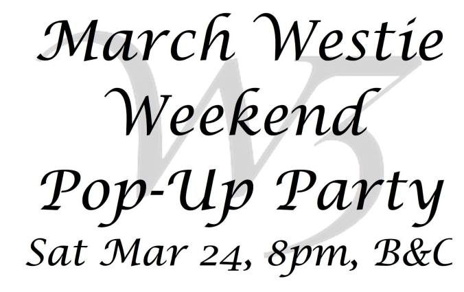 March 24 Pop up party W3